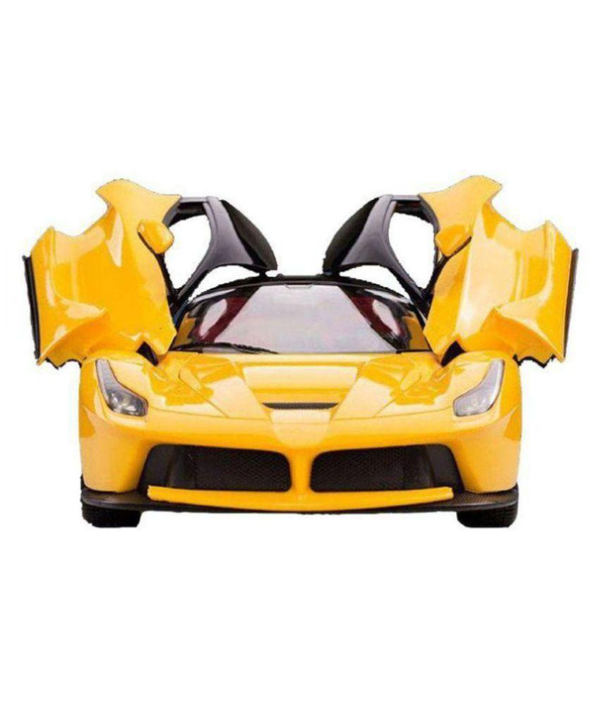 Dwiza Yellow Remote Controlled With Opening Doors And