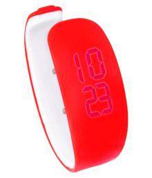 Kms Red Digital Mens Wrist Watch (unisex)