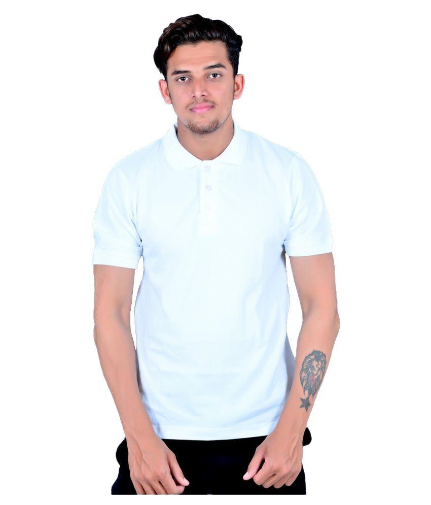 Zovil White Cotton T-Shirt