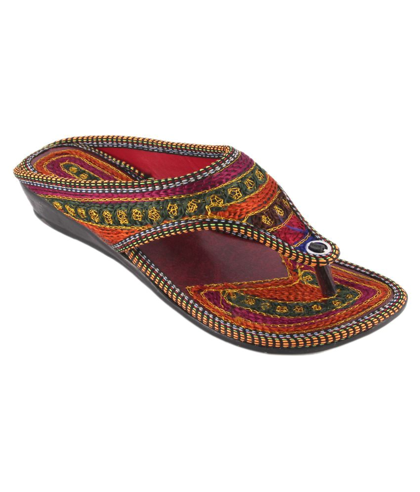 Kanishq Designer Studio Multi Color Flat Heels