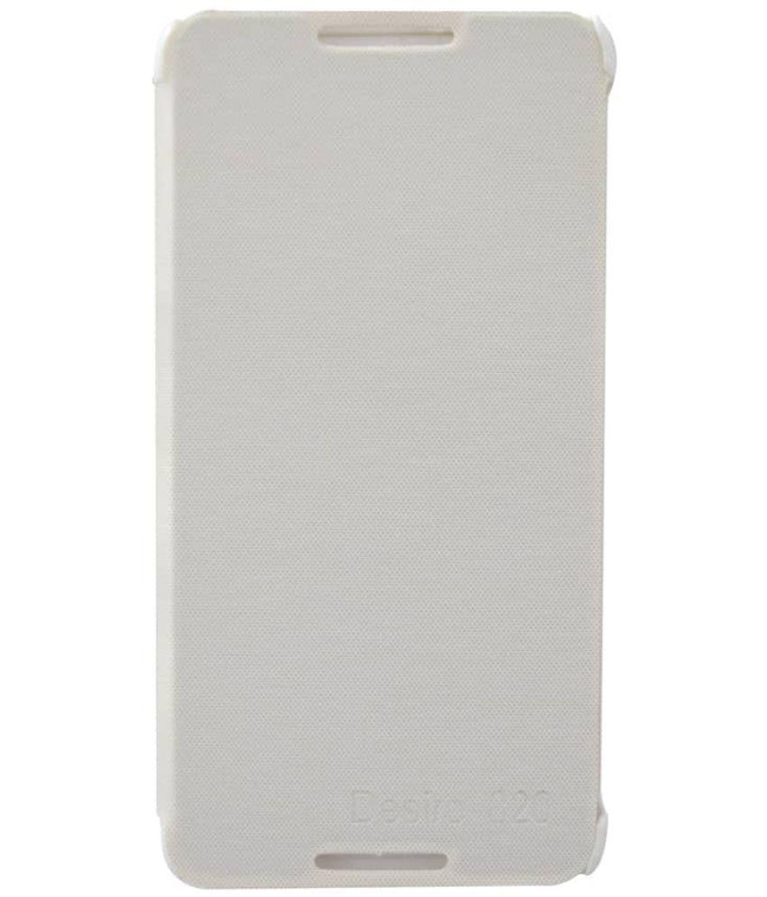 HTC Desire 820 Flip Cover by Coverage - White