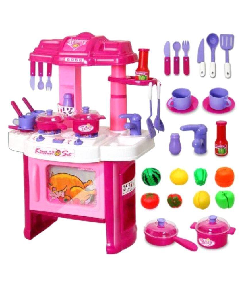 Paradise Plastic Pretend Kitchen Set For Kids