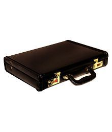 Leather World Black Large Briefcase