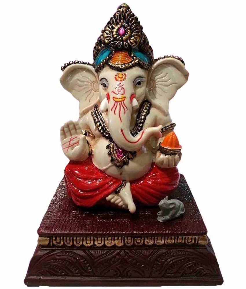 Earth Ganesha Polyresin Idol
