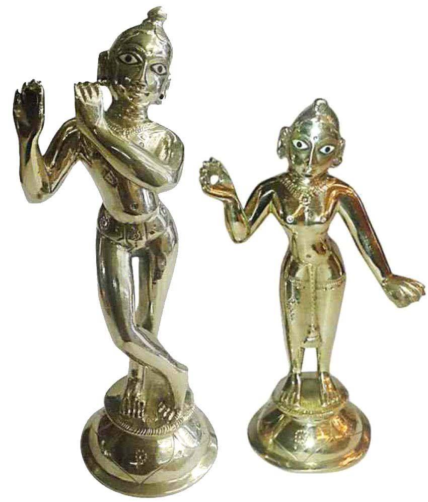 Rudra's Radha Krishna Brass Idol