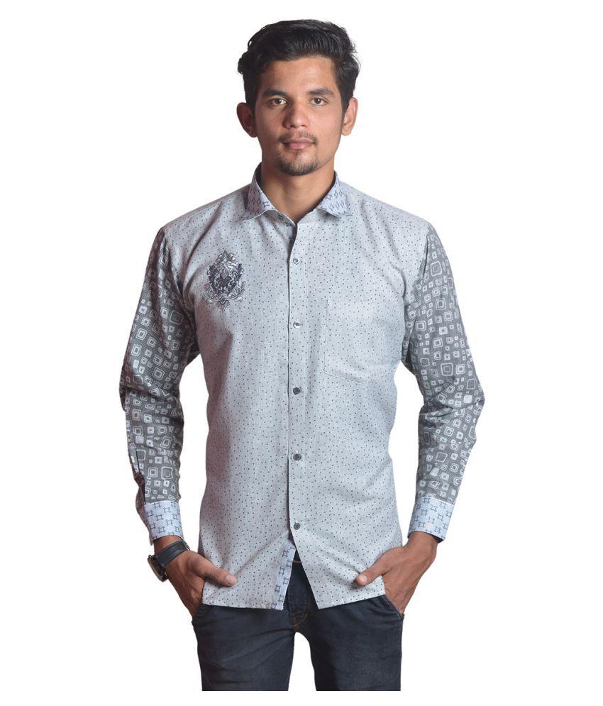 The Mods Grey Casual Regular Fit Shirt