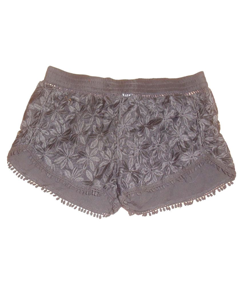 Zingara Black Shorts For Girls