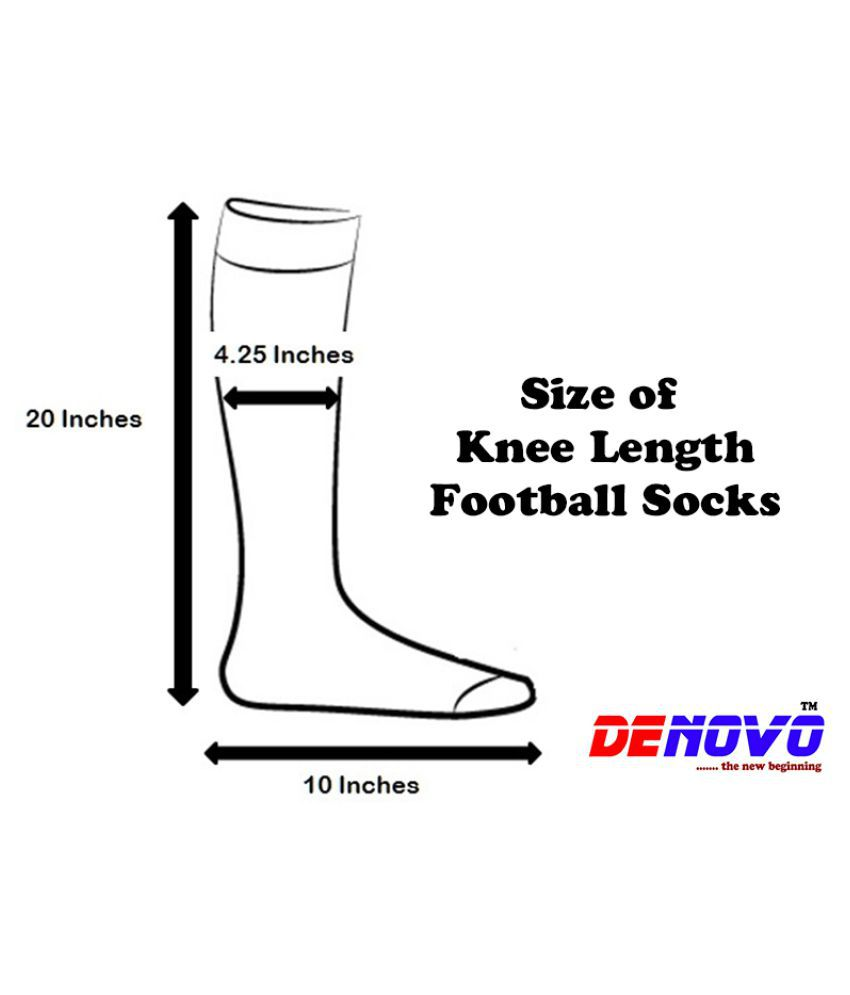 652f9b74876 Denovo Lycra Cotton Football Socks 3 Pairs - Multicolour  Buy Online ...
