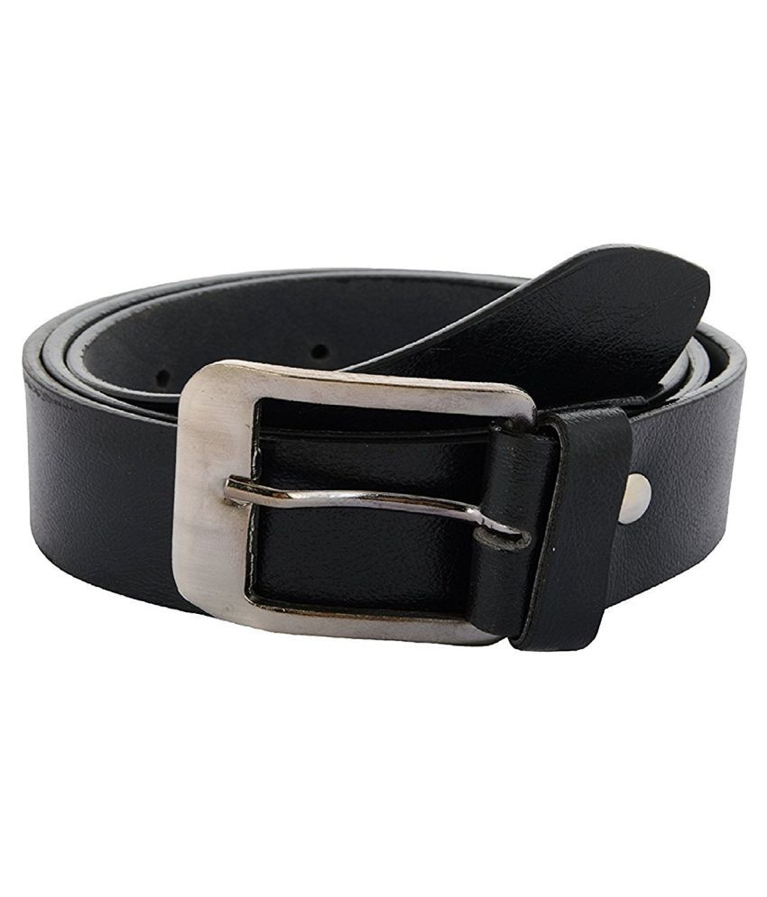 Hitashi Black Leather Formal Belts
