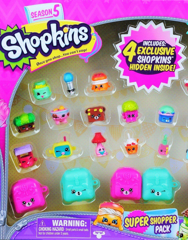 Shopkins Season 5 Super Shopper Pack Includes 4 Hidden Inside