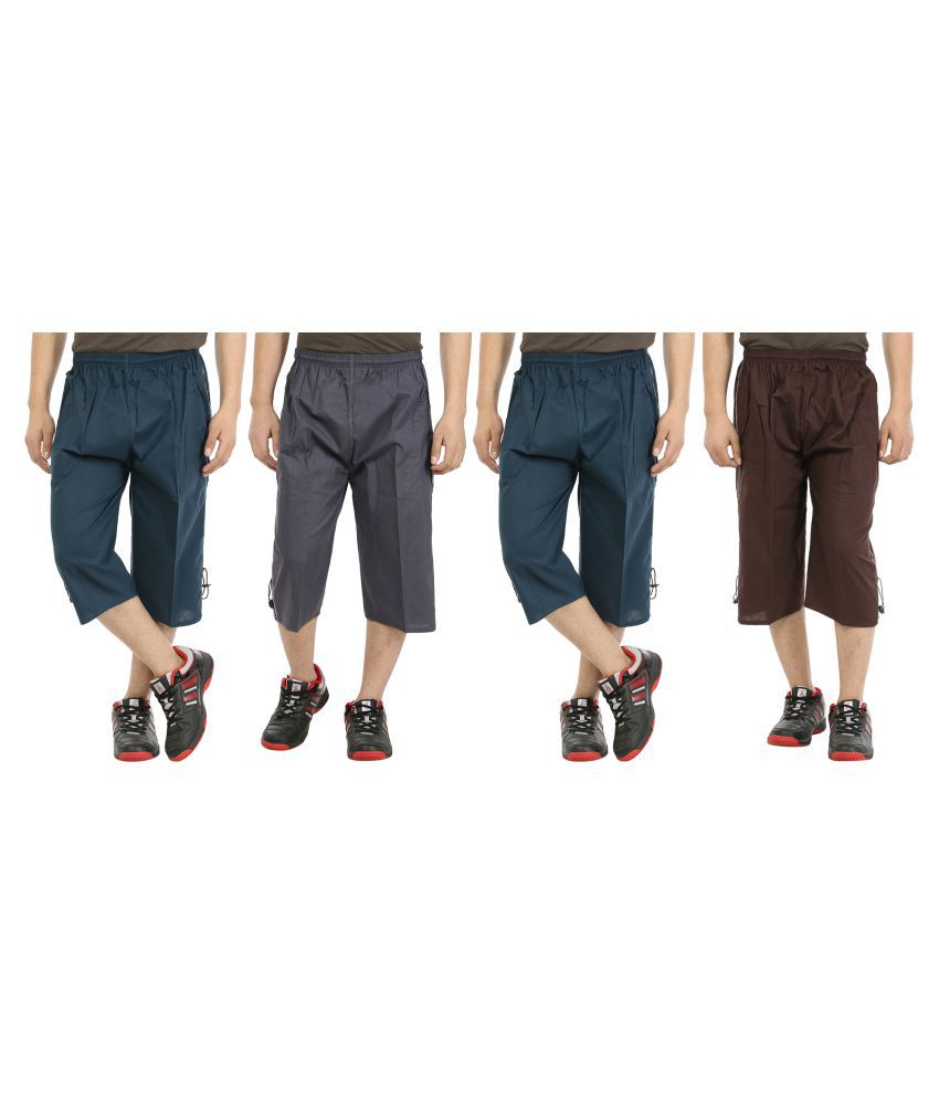 Grabberry Multi 3/4ths Pack Of 4 Capris
