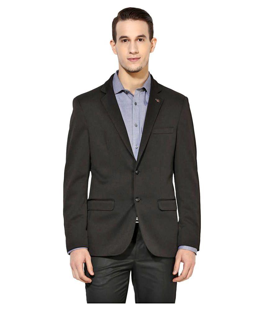 Turtle Black Solid Formal Blazers
