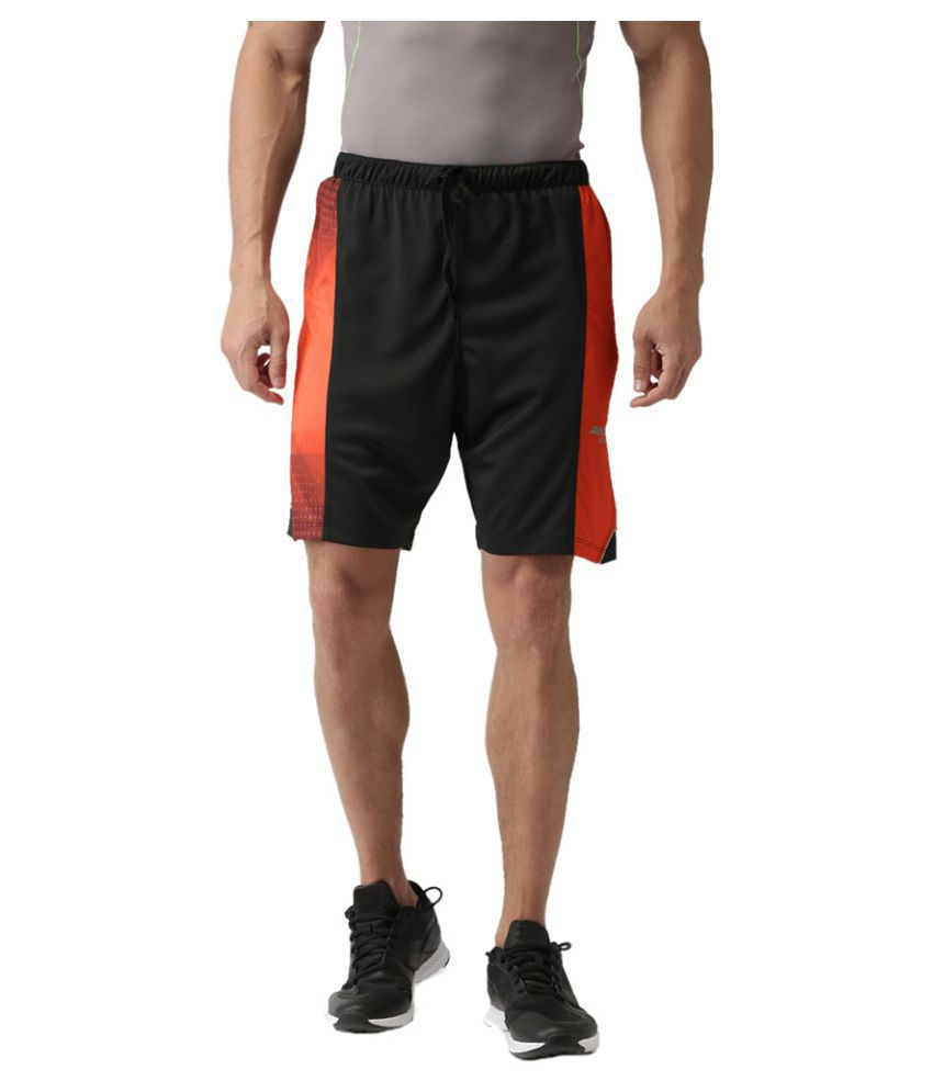 2GO Bold Black Print Running Shorts
