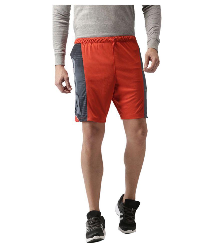 2GO Orange Print Running Shorts