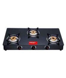 Surya Pearl 3 Burner Manual Gas Stove
