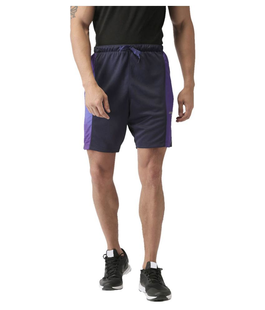 2GO Dare Navy Print Running Shorts