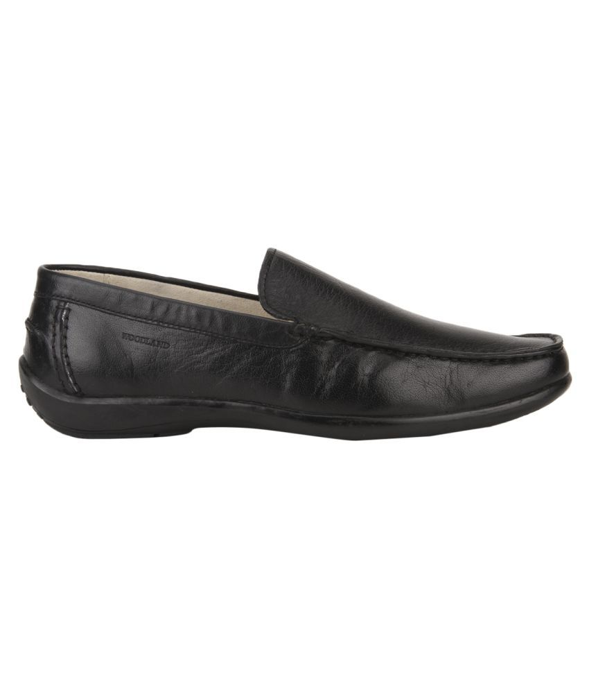 Woodland Black Shoes With Price