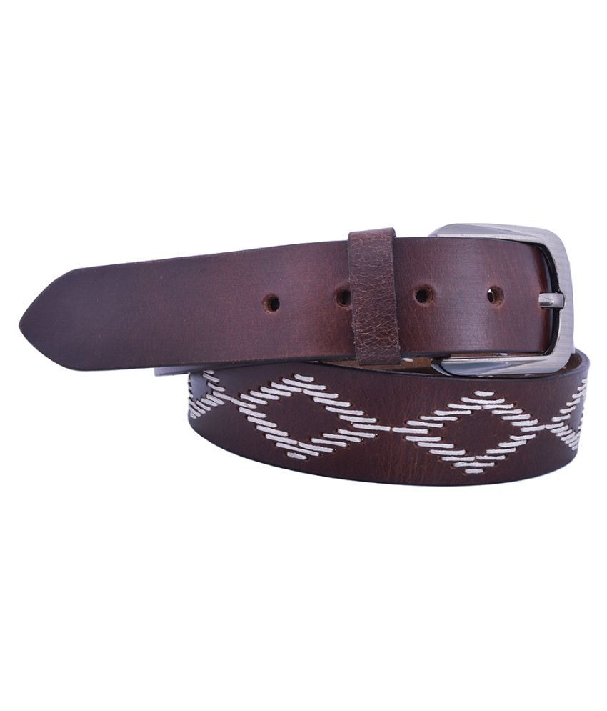 Earnam Brown PU Casual Belts