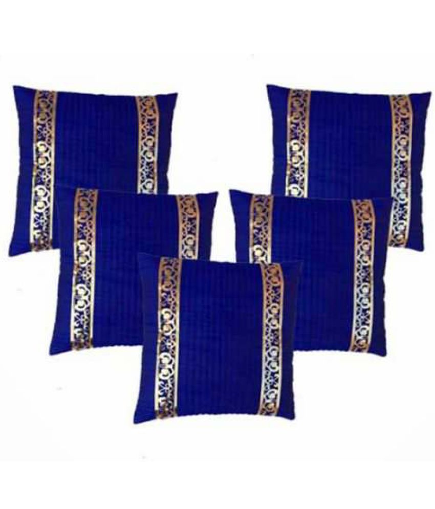 MSenterprises Set of 5 Polyester Cushion Covers 40X40 cm