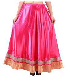 Shree Mangalam Mart Satin A-Line Skirt