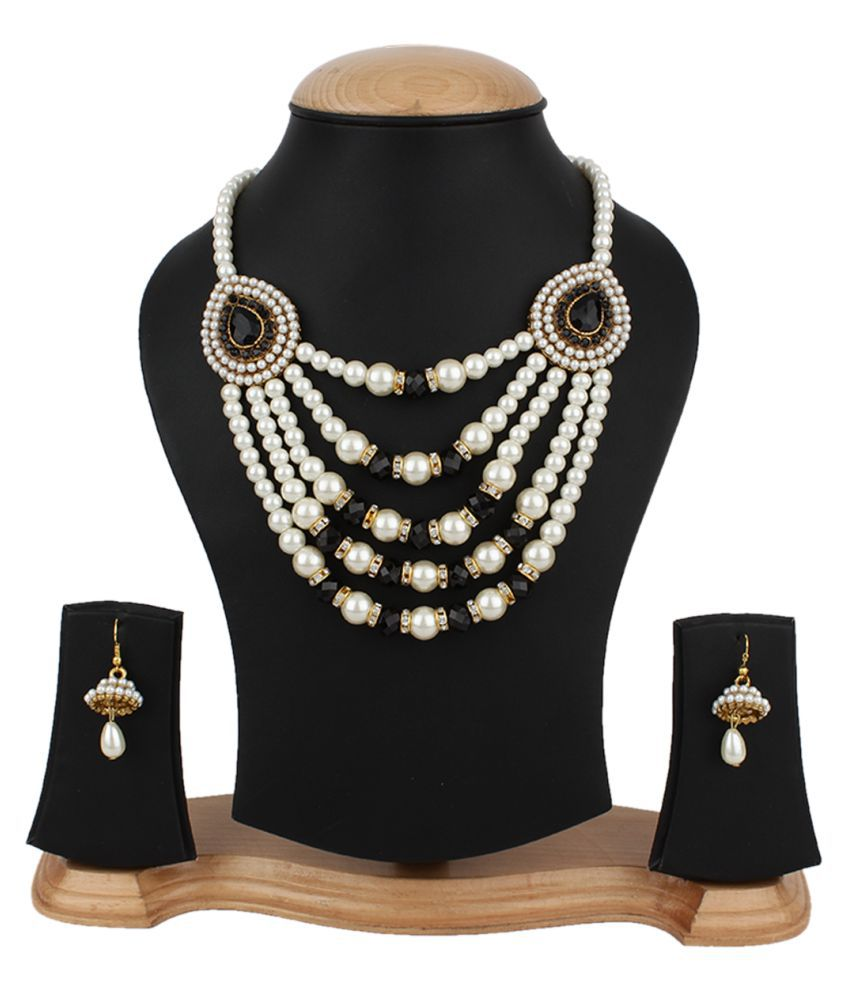 Jewels Gehna  Alloy Party Wear Wedding Necklace Set For Women