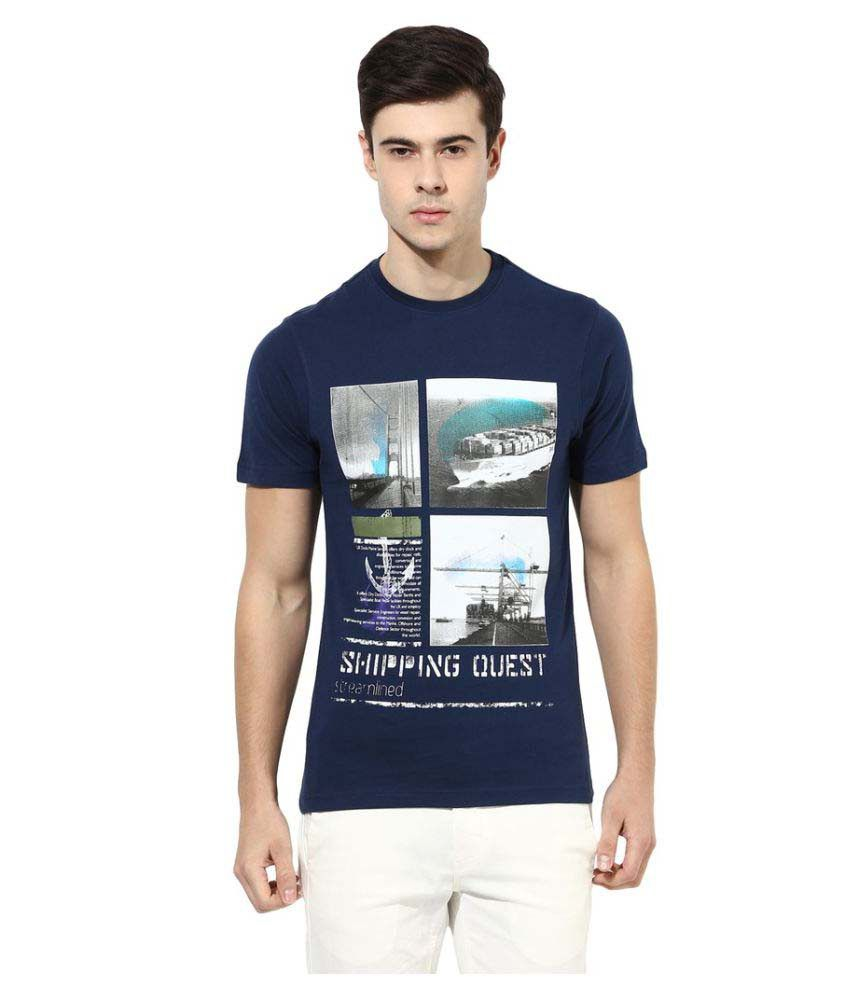 London Bridge Navy Round T-Shirt