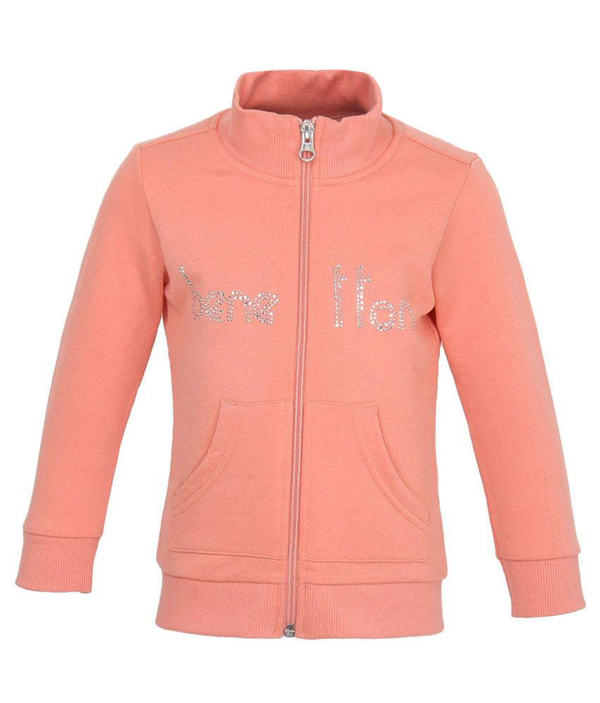 United Colors of Benetton Peach Girls Sweatshirts