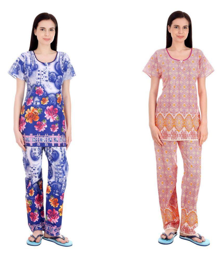 Simrit Cotton Nightsuit Sets