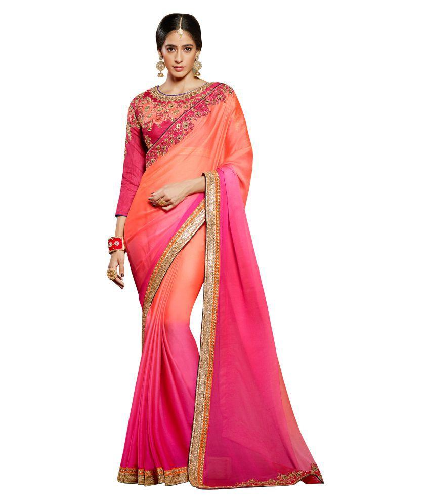 Vritikamesmer Multicoloured Chiffon Saree