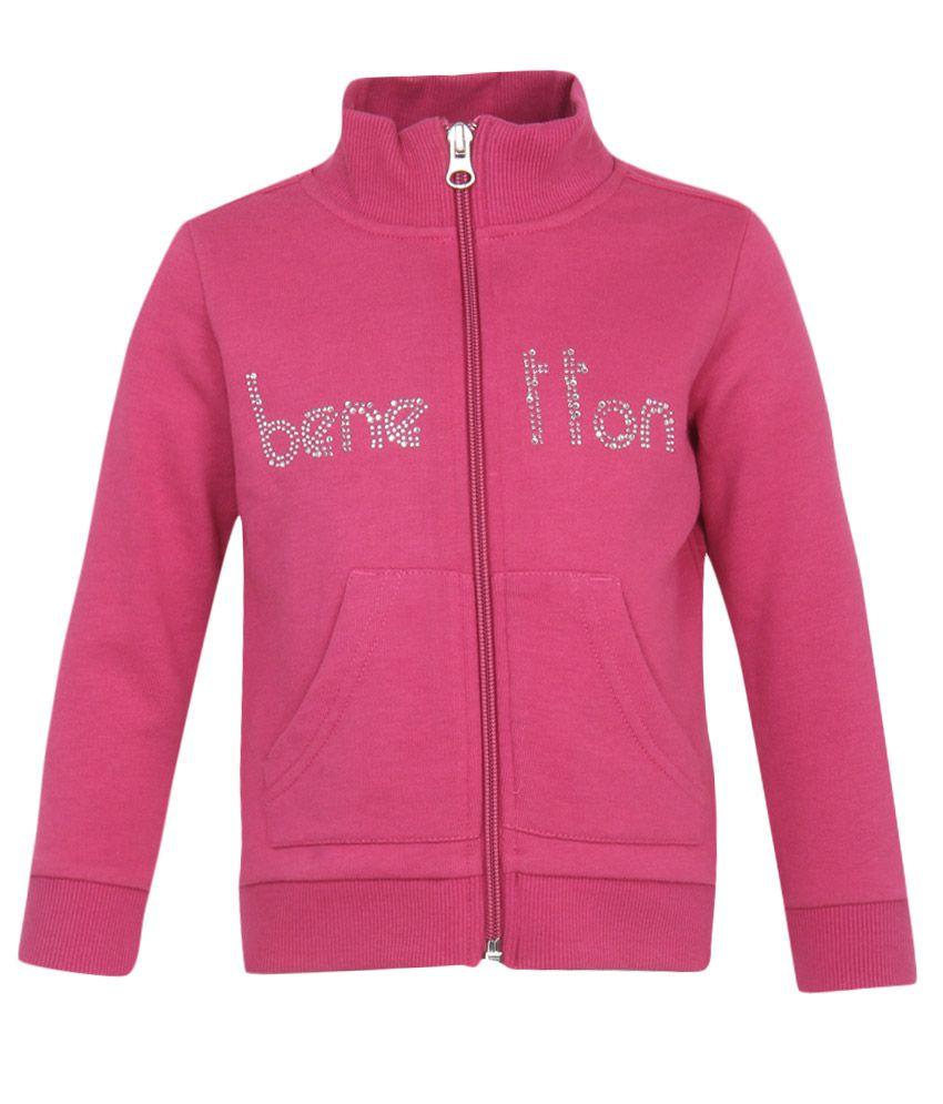 United Colors of Benetton Girls Pink Sweatshirts