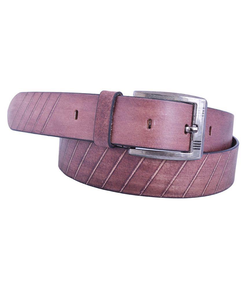 Earnam Maroon PU Casual Belts