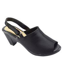 Khadim's Black Block Heels