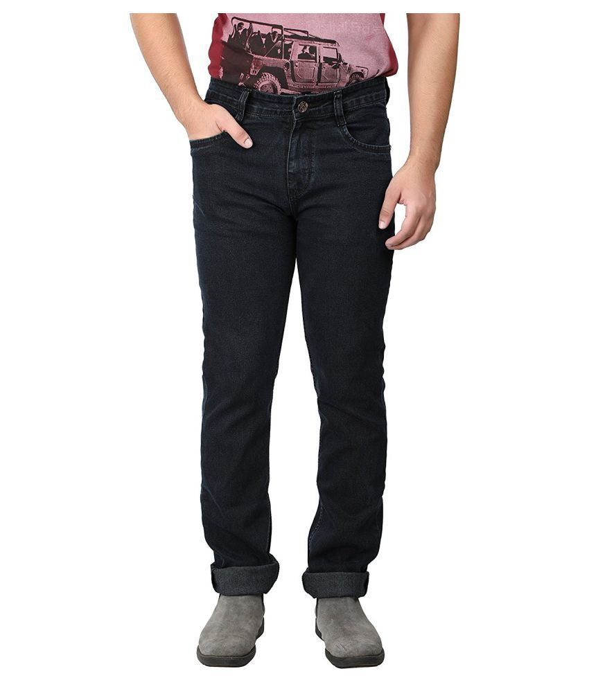 Saba Black Regular Fit Jeans