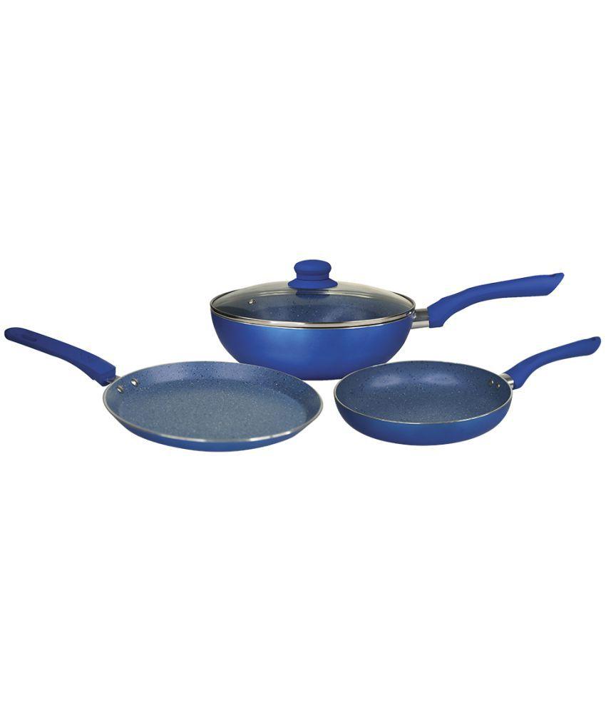 Wonderchef Royal Velvet Plus Set Blue 3 Piece Cookware Set