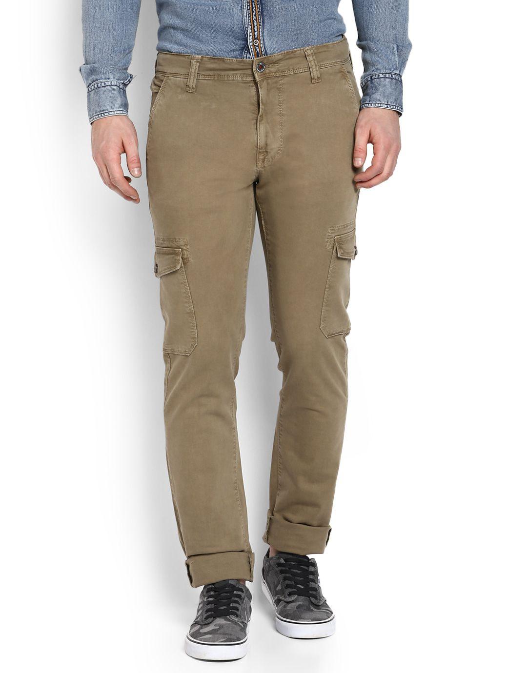 LAWMAN pg3 Khaki Fit Flat Trousers