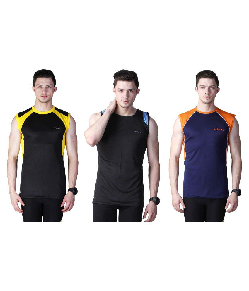 Atheno Multi Round T-Shirt Pack of 3