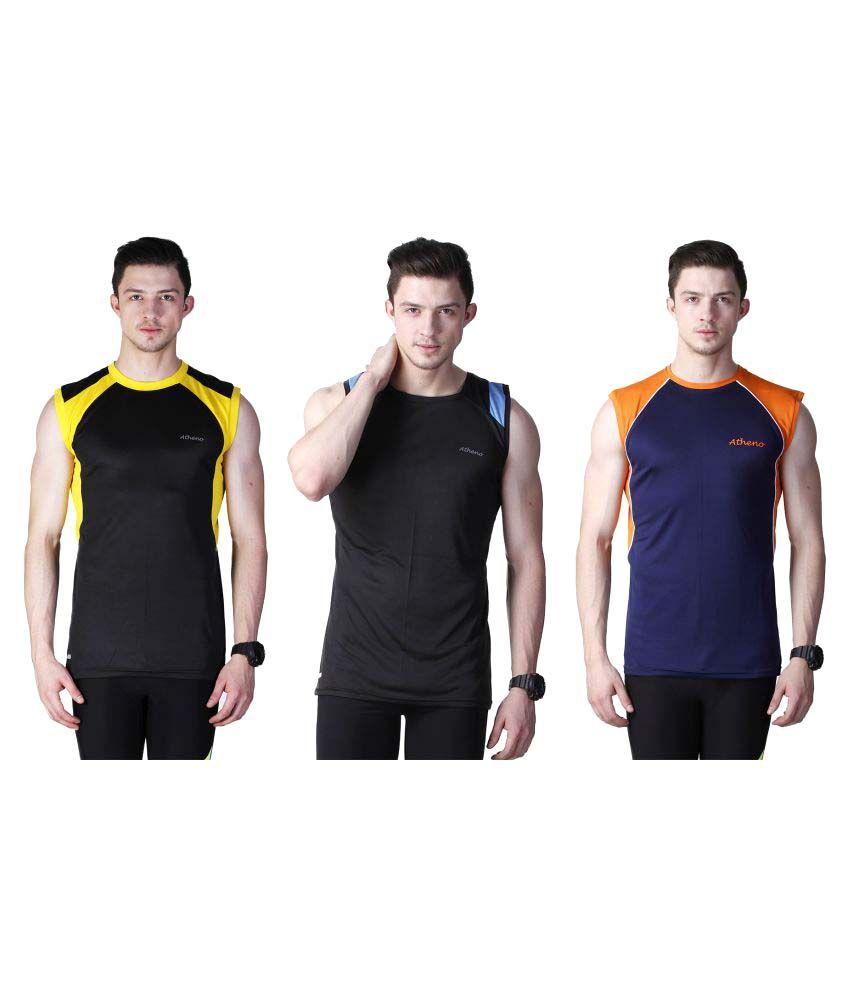 Atheno Multi Round T-Shirt Pack of 3