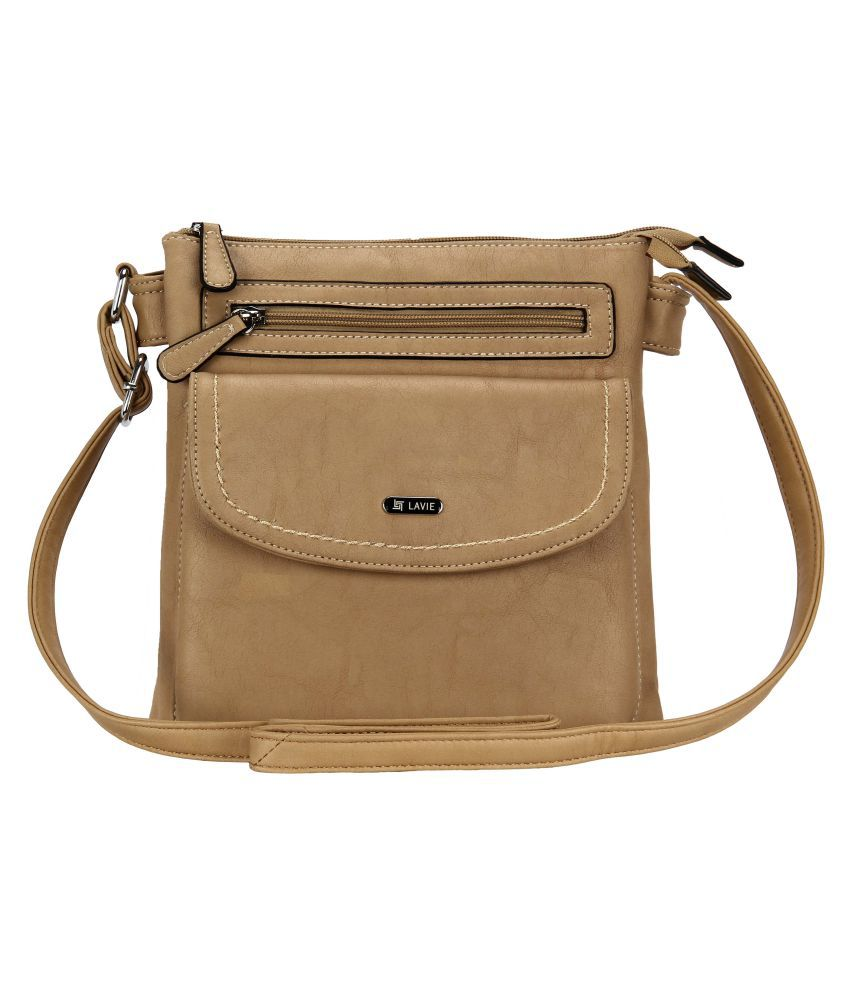 ff6c036a185 Lavie Beige P.U. Sling Bag - Buy Lavie Beige P.U. Sling Bag Online at Best  Prices in India on Snapdeal