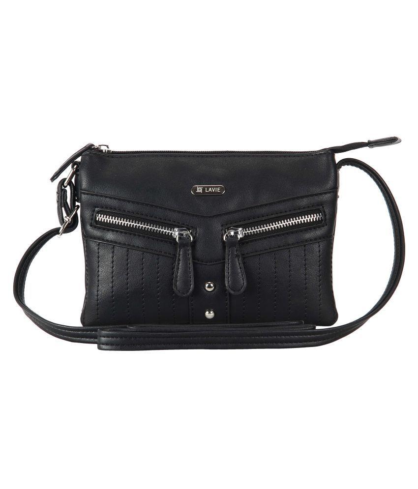 Lavie Black P.U. Sling Bag