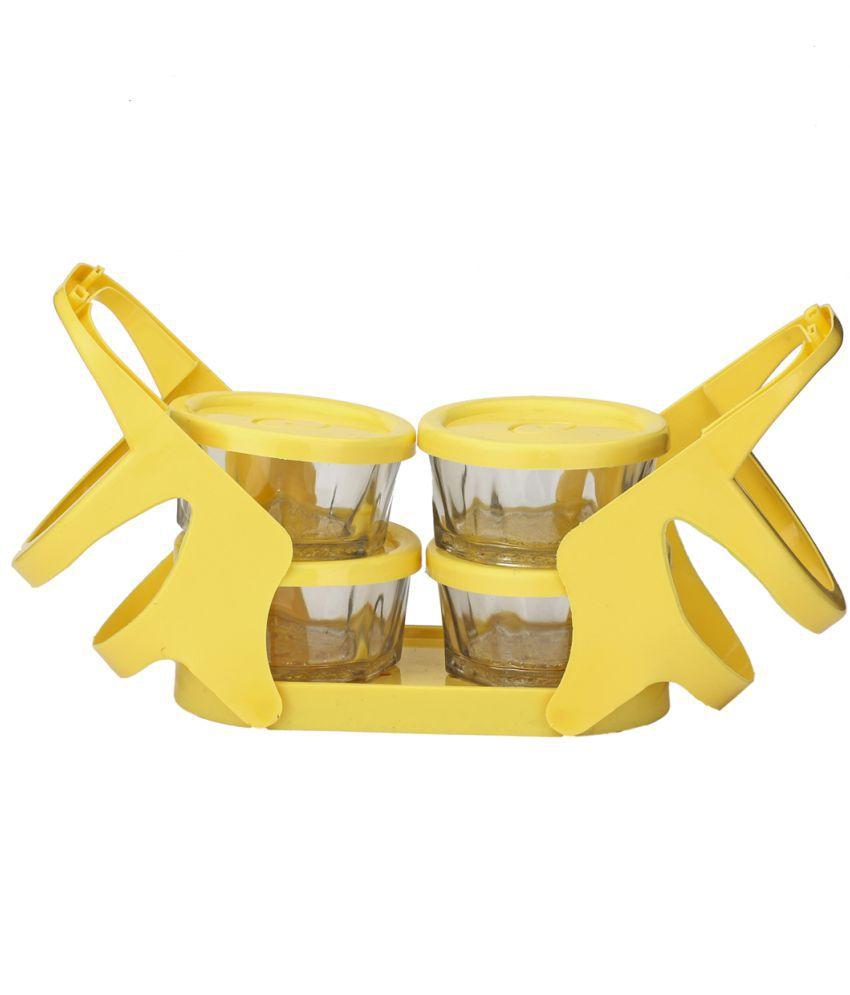 Lakshya Yellow Virgin Plastic Lunch Box