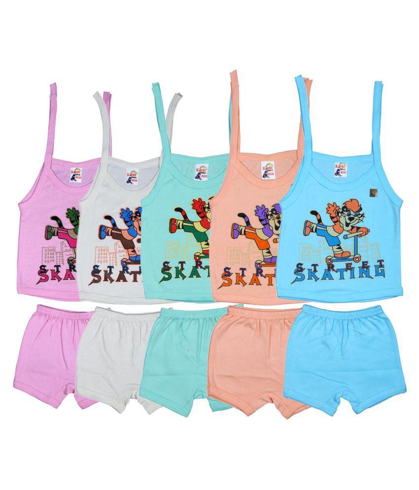 860acdf39b33 New Born Baby Dress Multicolor Printed Top& Bottoms152-0 (0-6M)-Pack of 5:  Buy New Born Baby Dress Multicolor Printed Top& Bottoms152-0 (0-6M)-Pack of  5 at ...