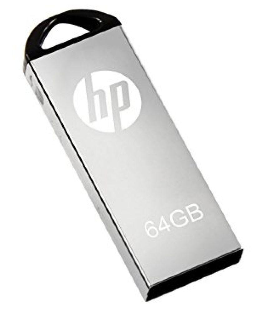 HP V-5 64GB USB 2.0 Utility Pendrive Grey