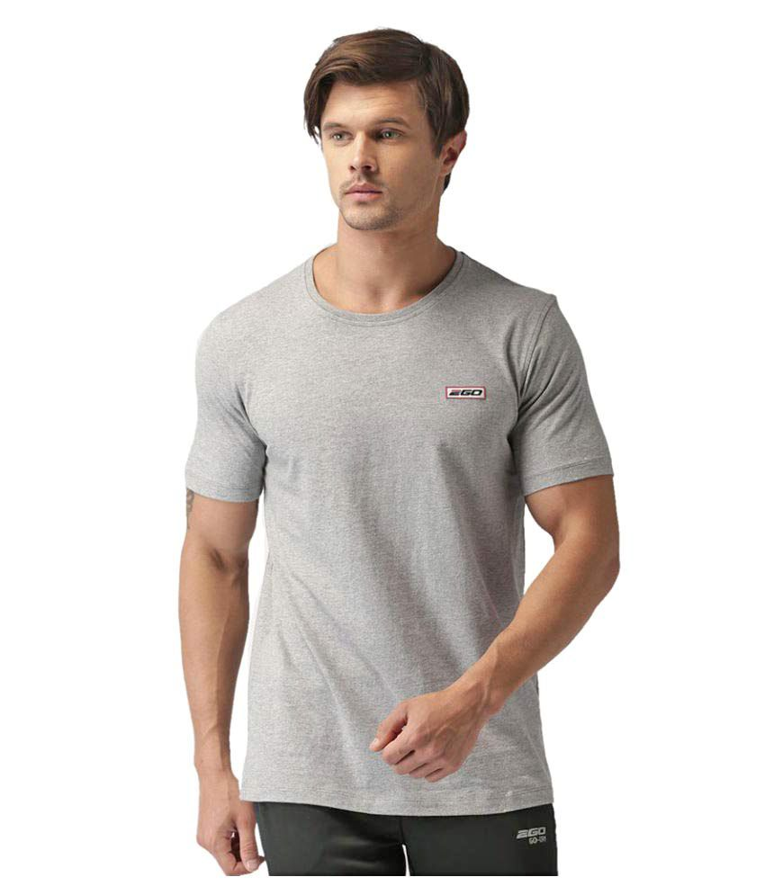 2GO Greymel Half sleeves Round Neck T-shirt