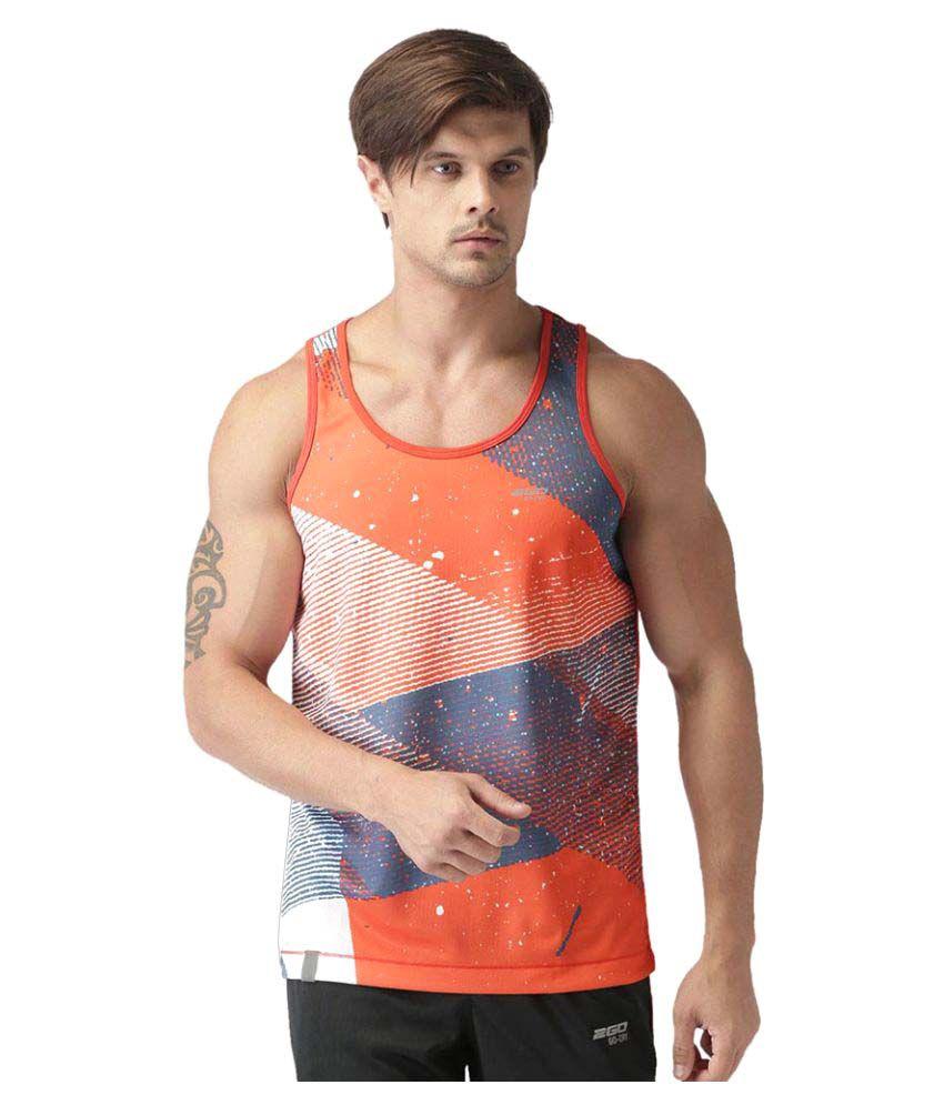 2GO Orange  Sleeveless T-shirt