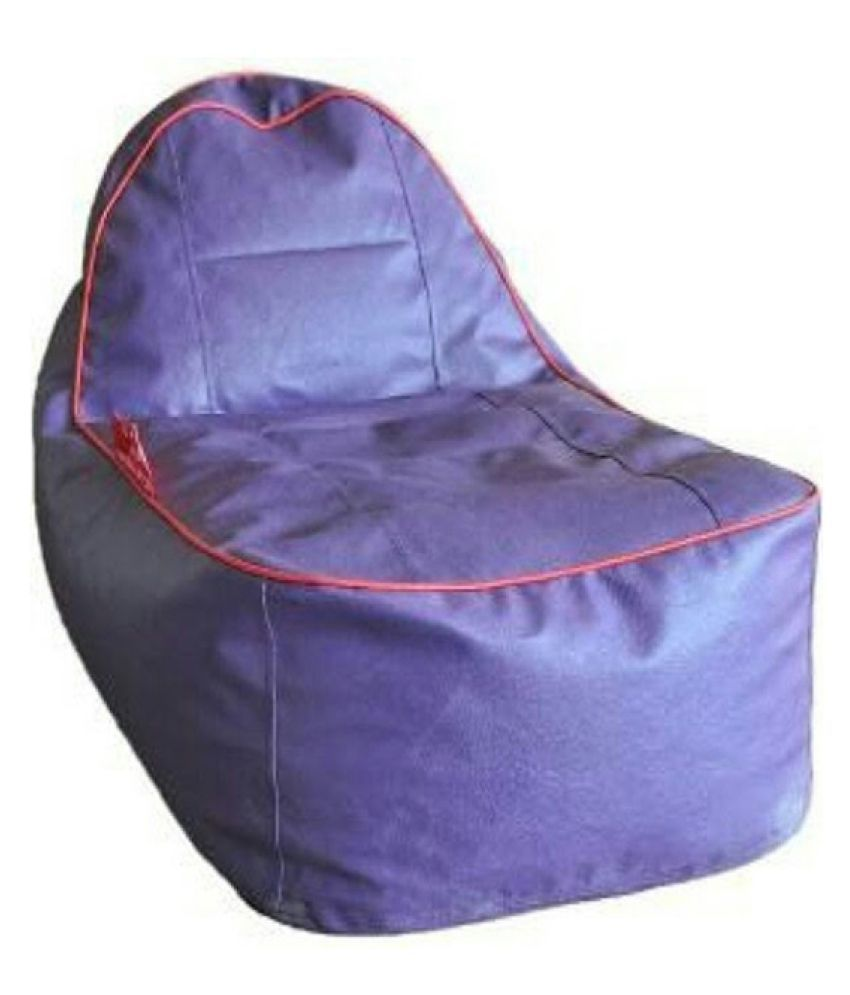Sultaan Rexine Leather Purple Bean Bag Cover Without