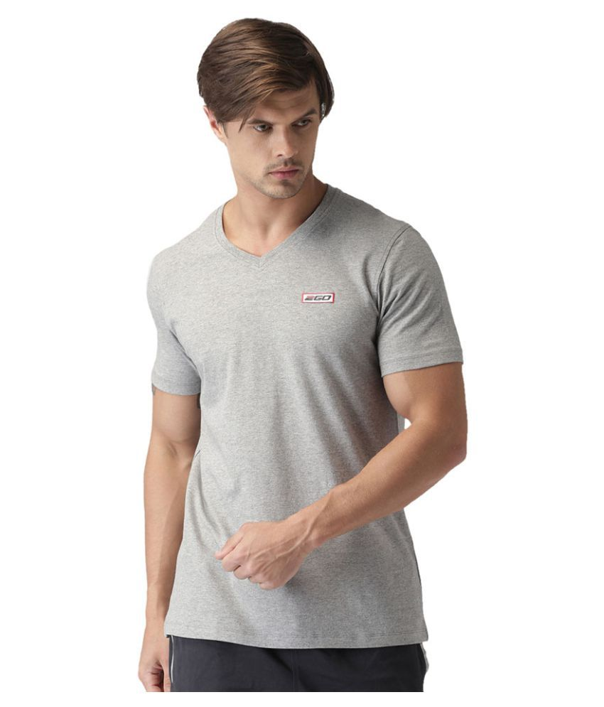 2GO Greymel Half sleeves V-Neck T-shirt