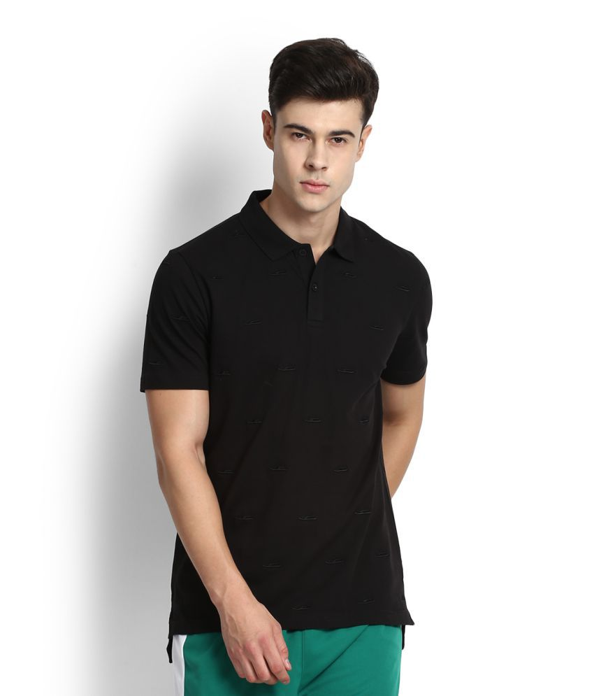 Puma Black Cotton Polo T-Shirt