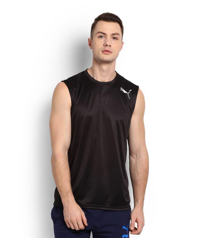 e83b2a9a30c Puma Black Polyester T-Shirt - Buy Puma Black Polyester T-Shirt Online at  Low Price in India - Snapdeal