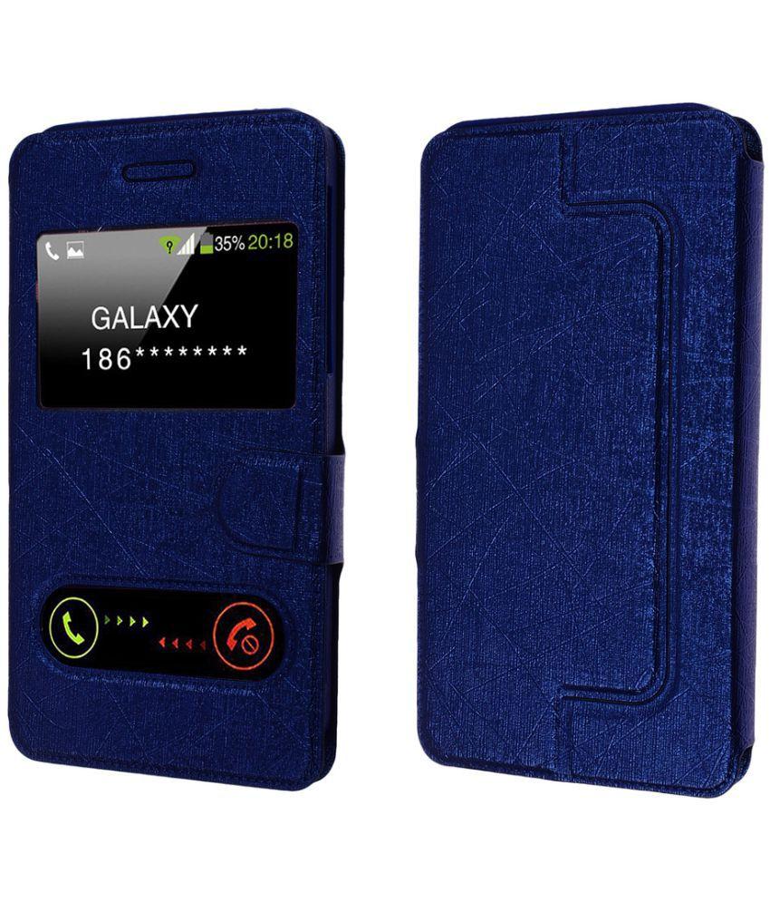 Asus Zenfone 3 Max Flip Cover by Shopme - Blue