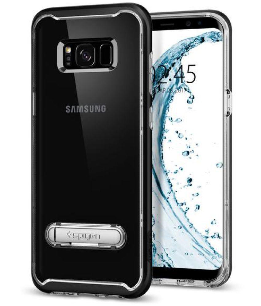 premium selection f746c 8088f Spigen Galaxy S8 Plus Case Crystal Hybrid Black (SF coated) 571CS21126